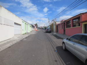 Street front of an upper middle class neighborhood - Tegucigalpa