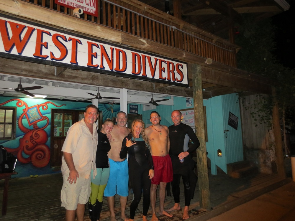 Roatan's First Black Water Divers - Mickey Charteris, Courtney Blankenship, Tom Thomson, Erica Morgan, Brett Kroos, and Andy Dixon
