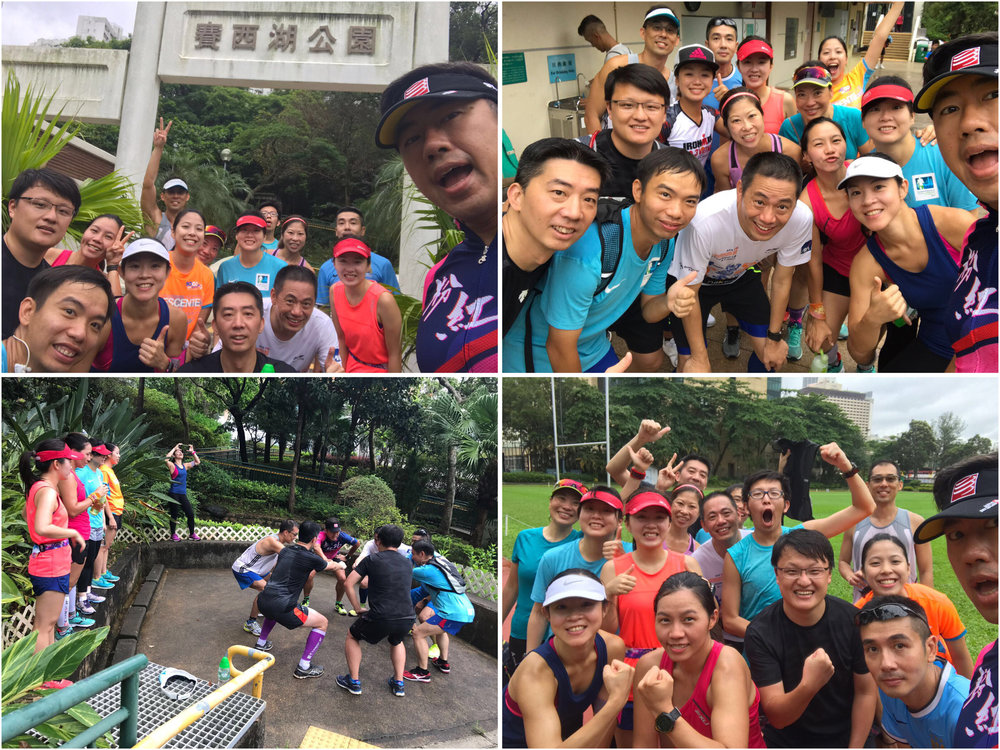 銅鑼灣1班野外追蹤長跑練習 - 銅一班的私跑活動最特別,因為一定唔止跑,仲有無限體能無限做。