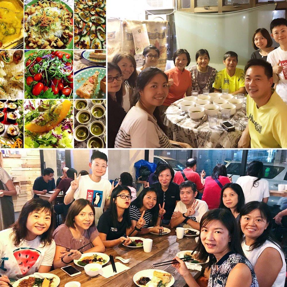 九仔九灣有食量練習 - 8月的某一晚,一班資深同學相約食返餐勁,以食會友!