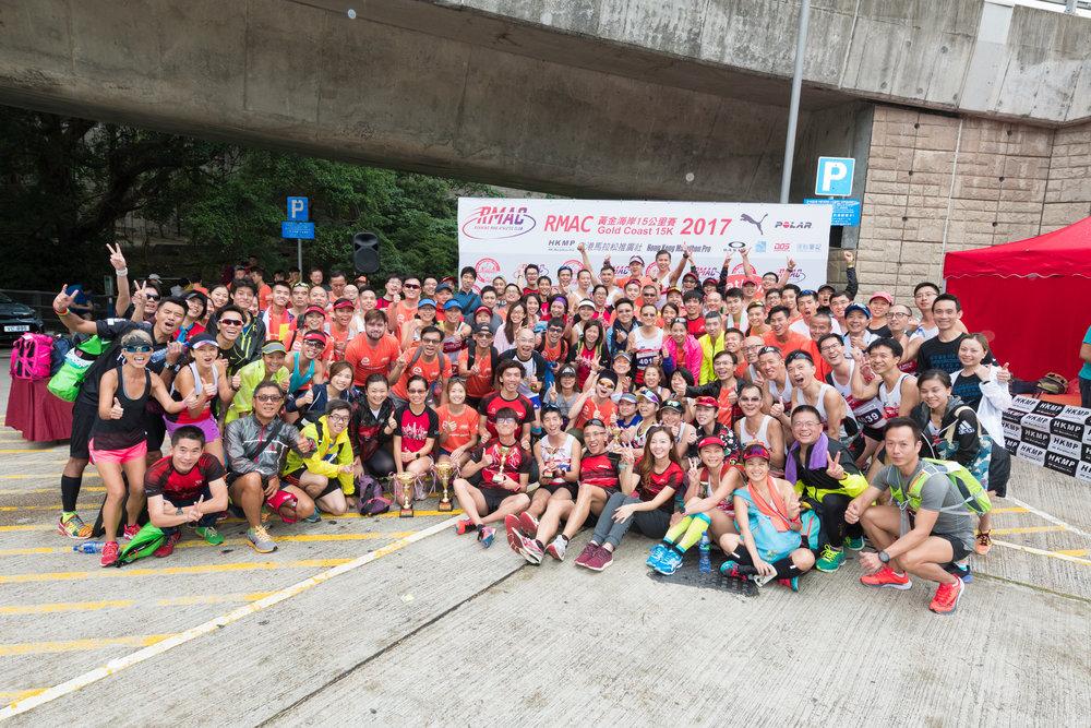 RMAC黃金海岸15公里賽2017 - 當日比賽超過100位同學參與比賽,本會向他們的熱心支持非常感激!