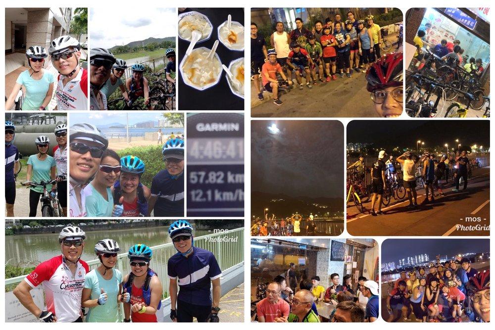 馬鞍山班自行車組重起活動 - 很久沒有單車組活動了,組員特別提出5月1曰公眾假期早車上水豆花團或者前一晩4月30日晚飯甜品圑,本為二選一,但最後兩團都成行,兩路程各有各的特色,最後個個玩得高興而回!