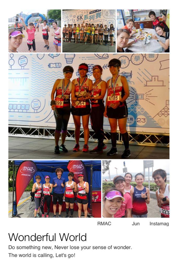 九仔4朵金花 – 飛達5km 隊際賽不斷報捷, 勁勁勁!! - 飛達40周年5K系列賽 2018, 第一站: 2018年6月9日(星期六)及第二站: 2018年6月23日(星期六)在沙田科學園舉行; 今年九仔同學 Fien, Miranda, Karen 和阿詩 組成了強勁組合參加女子四人隊際挑戰賽項目, 賽事是以4人完成賽事時間總和來決定得獎名次。長跑是一項誠實既運動, 在比賽中反映出大家既訓練成果, 這兩場比賽同場較量既對手實力真的很強, 但她們仍能分別在第一站奪得亞軍及第二站奪得季軍, 這足以代表了她們的努力 並沒有白費!!