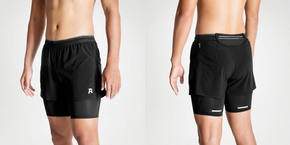 男裝跑褲短Tight(2合1)