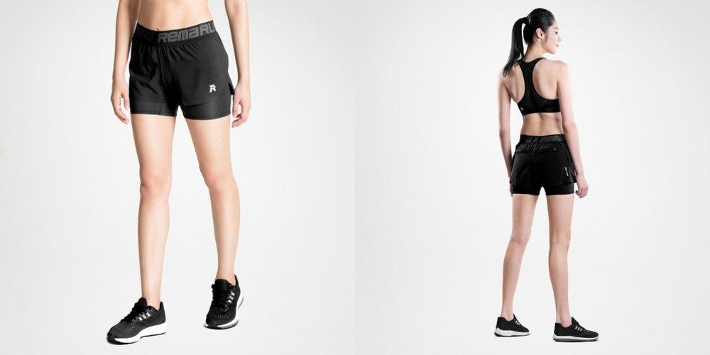 女裝跑褲短Tight(2合1)