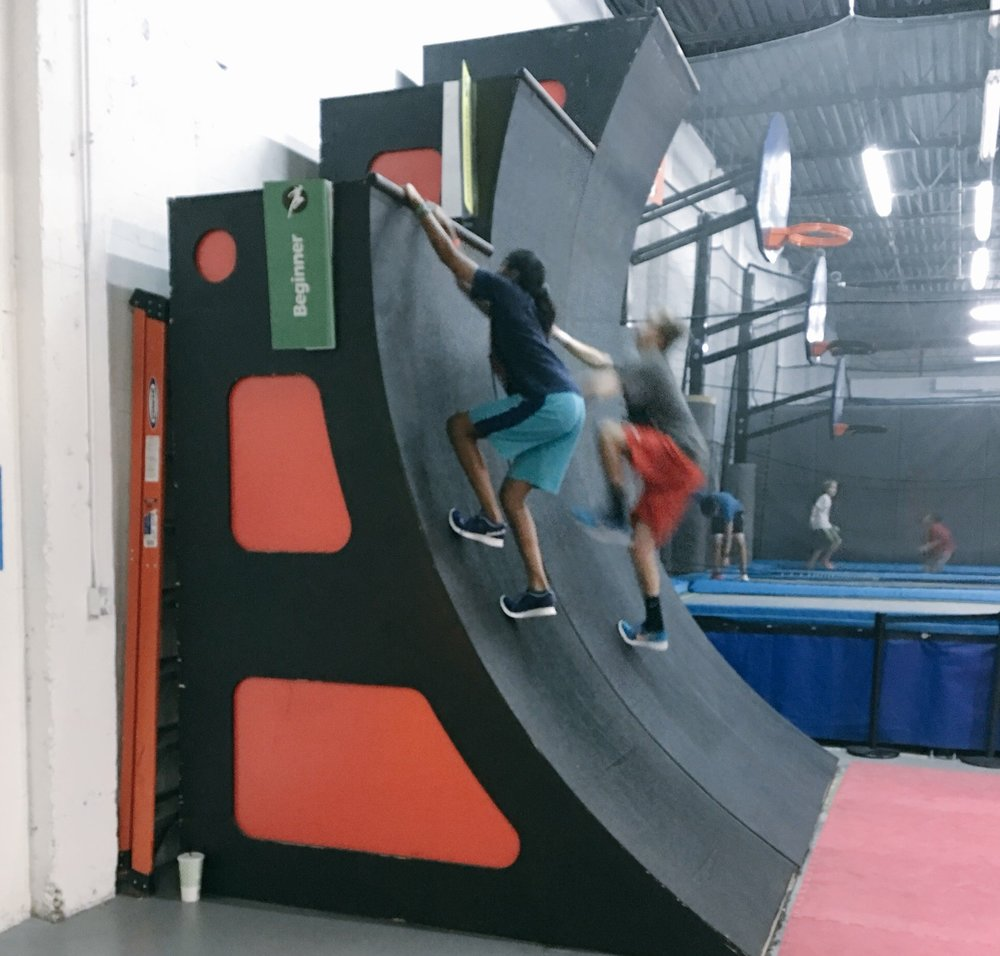 Triple warped walls at Zava Zone