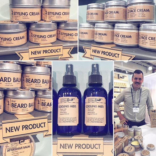If you're at @ny_now stop by our booth (8041) and check out all these new sundries! . #apothecary #handmade #cleanliving #madeinpgh #essentialoils #skincare #bodycare #soap #balm #cream #simple #honest #ingredients #shopsmall #beard #allnatural #vegetarian  #nynow