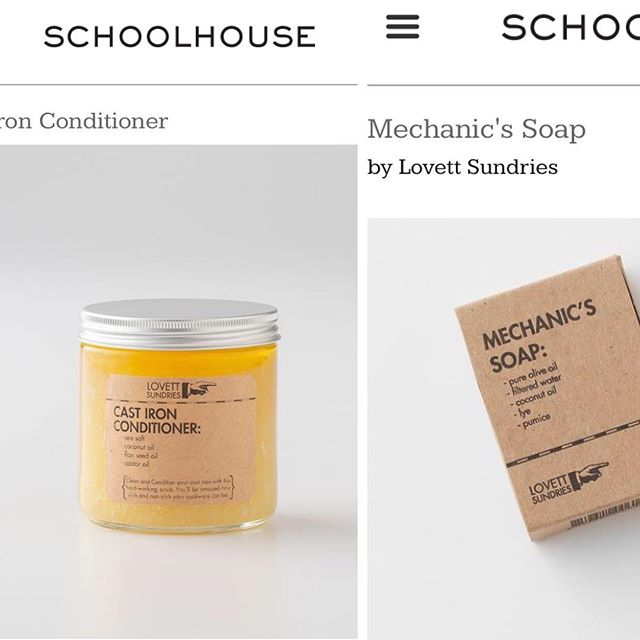 Feeling good to be included in Schoolhouse Electric Co's fall catalog. Next time you're shopping for beautiful interior lighting and decor at @schoolhouse toss some sundries in your cart! . . #apothecary #handmade #cleanliving #madeinpgh #essentialoils #skincare #bodycare #soap #balm #cream #simple #honest #ingredients #shopsmall #beard #allnatural #vegetarian #schoolhouseelectric
