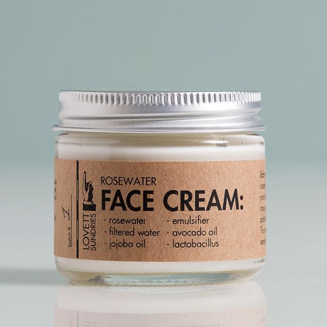 Our Rosewater Face Cream is so light and refreshing. It has just the right balance of Bulgarian rosewater, jojoba oil, and avocado oil to make you feel special every time you put it on 🌹💦 link in our bio. . . #apothecary #handmade #cleanliving #madeinpgh #essentialoils #skincare #bodycare #soap #balm #cream #simple #honest #ingredients #shopsmall #beard #allnatural #vegetarian  #rosewater #rosewater #avocadooil #lactobacillus