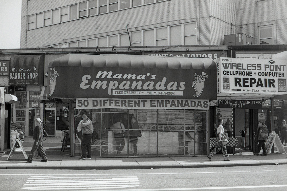 Mama's Empanadas - This is a spot I would eat at EVERY-DAY after class in high school. My friends and I would walk over to Steinway and order two to three empanadas each, and dowse them in pink sauce! It is so filling, and so inexpensive, perfect for many occasions- including a very tasty late night snack. My personal favorite is the standard cheese, BUT when I was vegan I tried their rice & beans empanada and it is SO amazing, it might even beat the cheese for me… (Photo by my dear friend Alessandro Romero)
