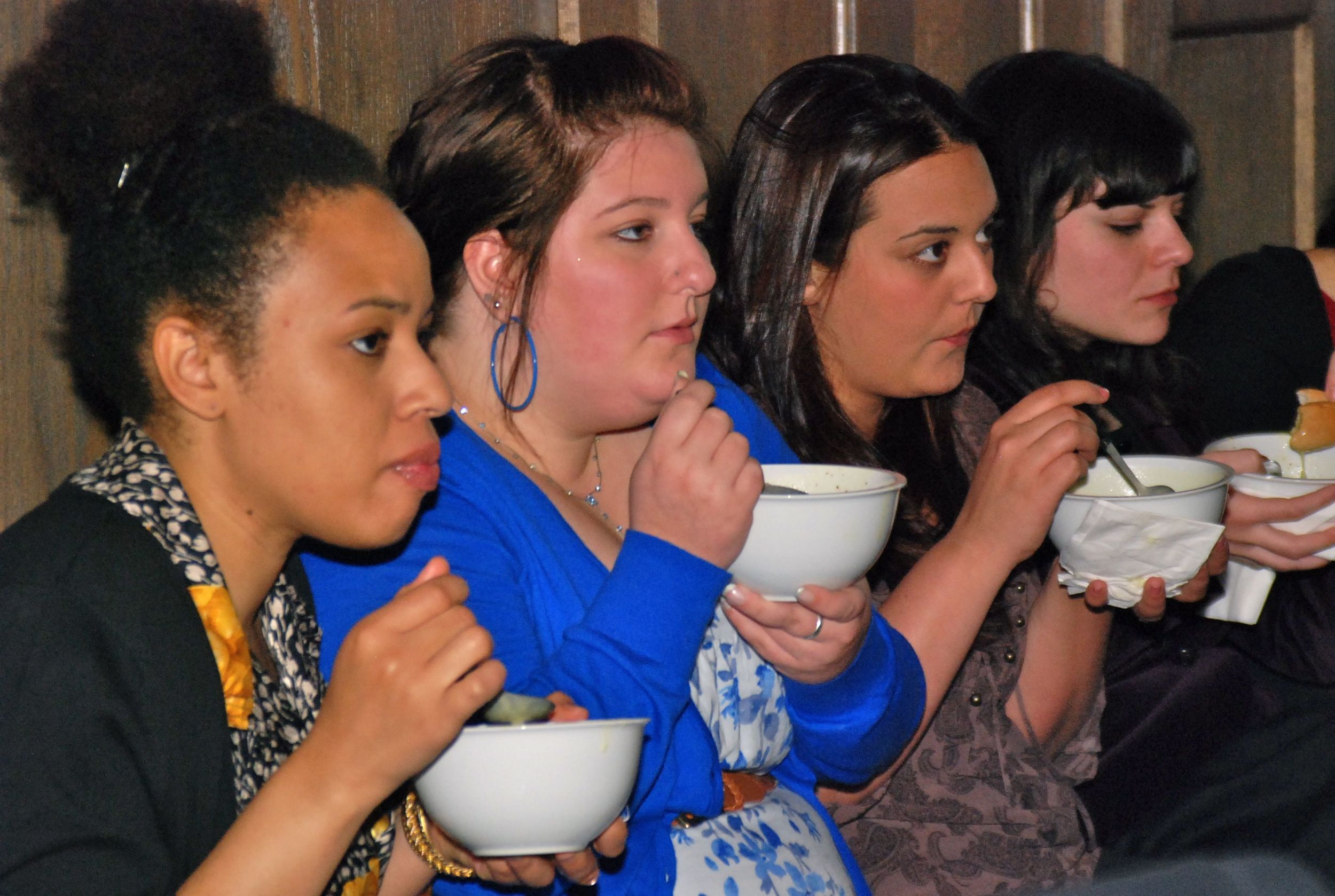 Guests enjoy Re-Thinking Soup at Hull-House
