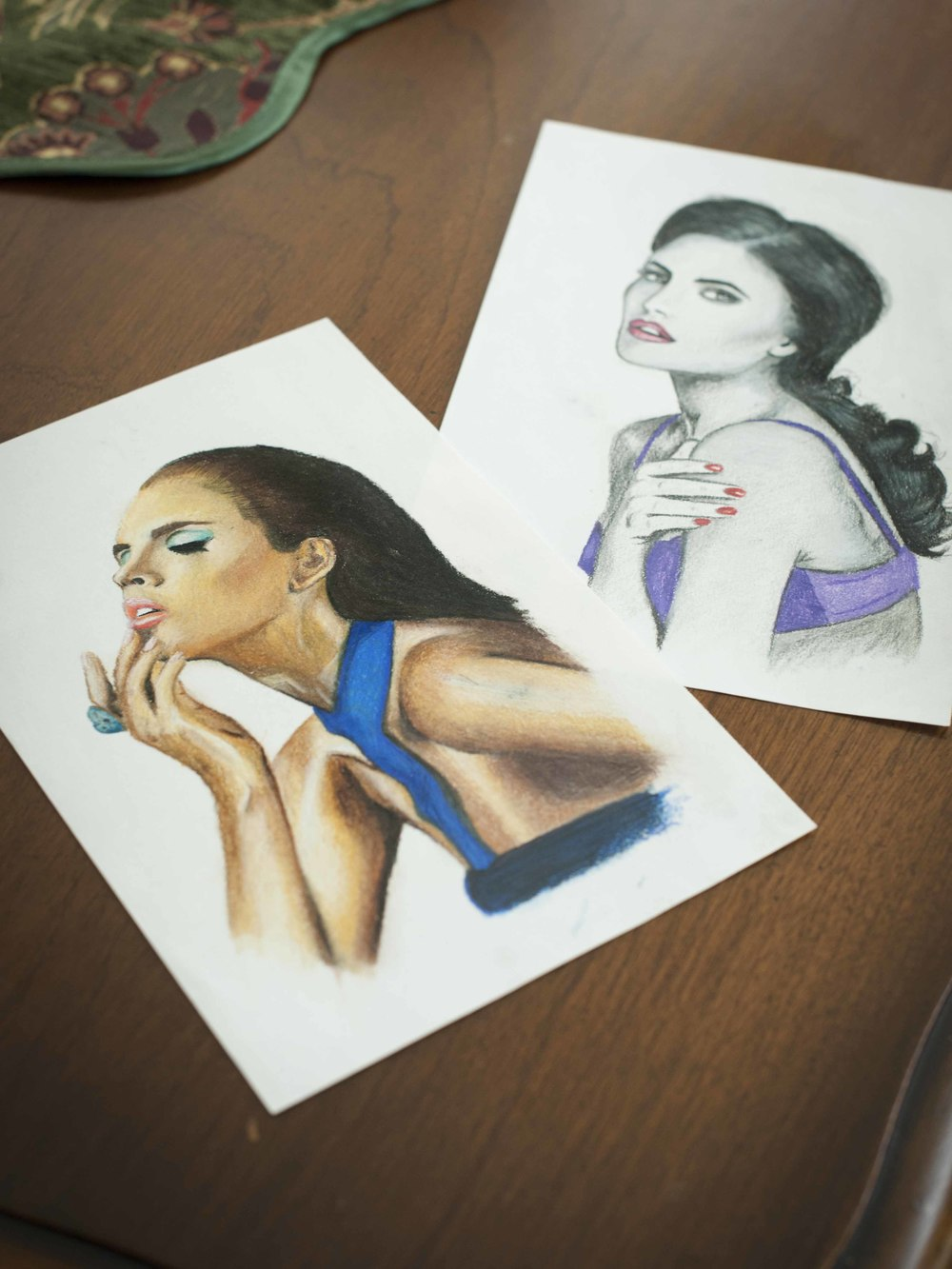 My first colored pencil drawings.