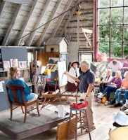 In summer 2014, The Cape School returned to Charles Hawthorne's original barn studio to teach a series of classes.