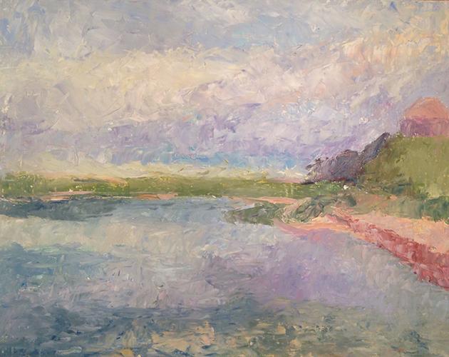 Pamet Harbor, oil on board, 11 x 14