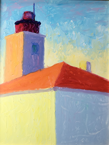 Chris Smeraldi • Beavertail Lighthouse, Jamestown, RI oil on board, 11 x 14
