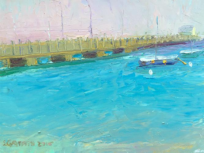 Provincetown Pier, oil on board, 8x10