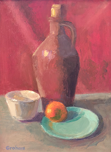 Jug-Or-Not, oil on board, 12 x 16