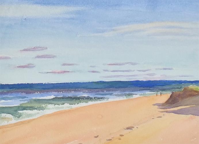 Cape Beach, watercolor, 11 x 14