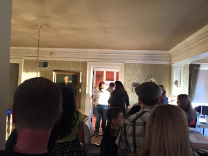 Haunted Ghost Tour inside the Ferguson House.