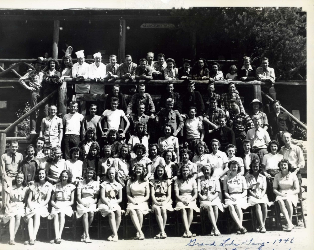 Grand Lake Lodge staff 1940's in Rocky Mountain National Park.jpg