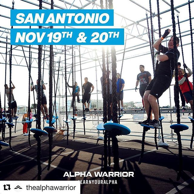 We're back baby!!!! Come #EarnYourAlpha on the #AlphaWarrior course November 19th -20th in San Antonio, Texas! Early Bird pricing is now available at AlphaWarrior.com #OCR #ObstacleCourseRacing **Link in Bio**