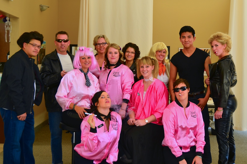 The Pink Ladies and T-birds of Hawkstone Physical wish everyone a safe and happy Halloween! Go Grease Lightning!