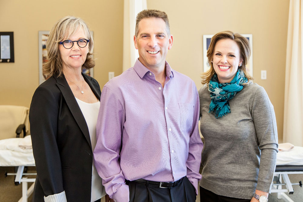 Cindy Cinats, Fraser Rebnord & Emily Coggles, Physical Therapists & Managing Partners