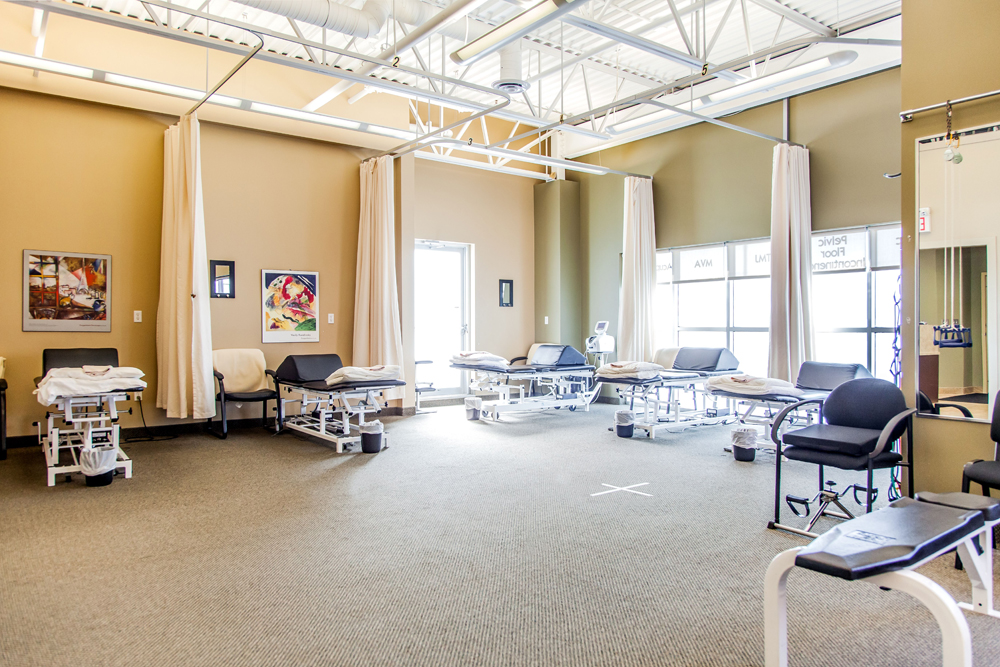 We have 10 curtained treatment areas with natural light.