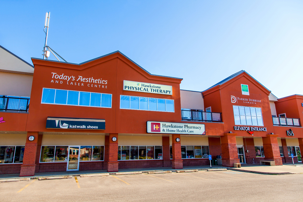 We are located on the second floor of Hawkstone Plaza at 18332 Lessard Road.  There is elevator access to the second floor through the pharmacy.  The building has ample free parking.