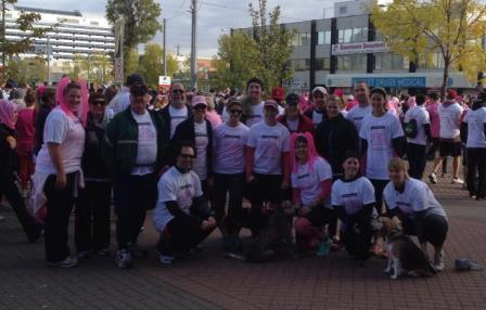 The 2013 Hawkstone Hooters all ready to run/walk 5 kms!
