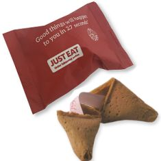 just eat promotional fortune cookies