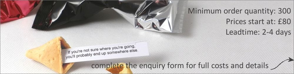 personalised fortune cookies for promotions
