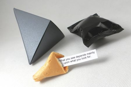 promotional fortune cookies - presentation boxes - diamond design