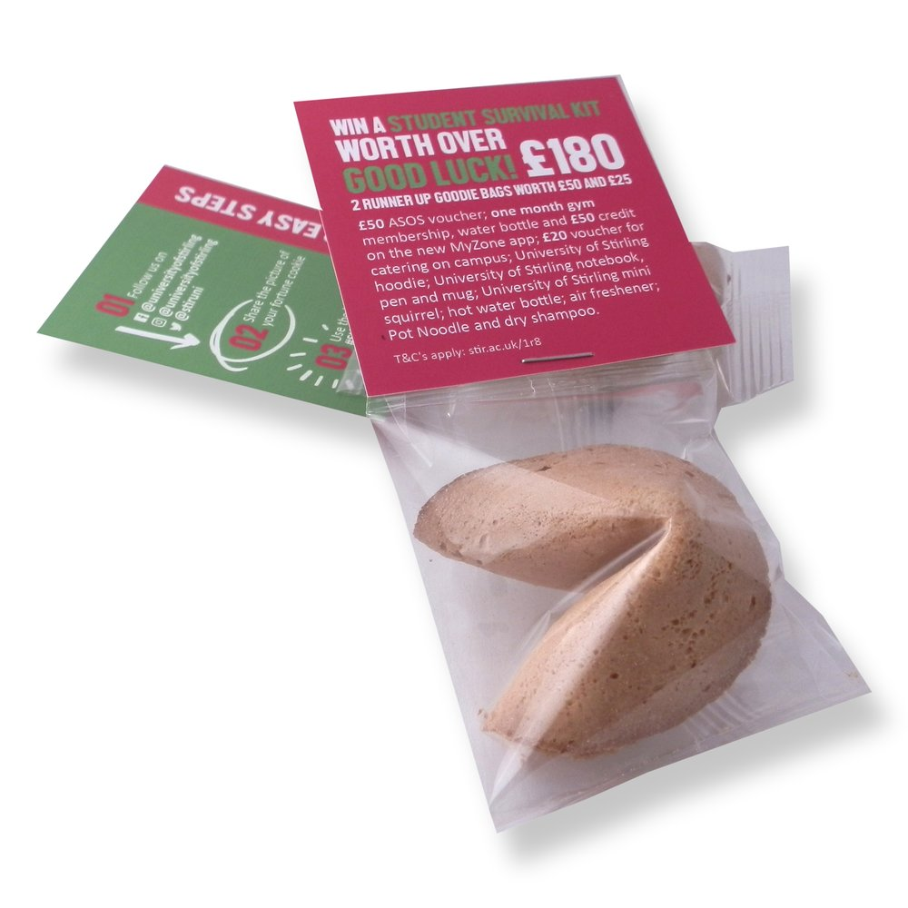 branded packaging for promotional fortune cookies