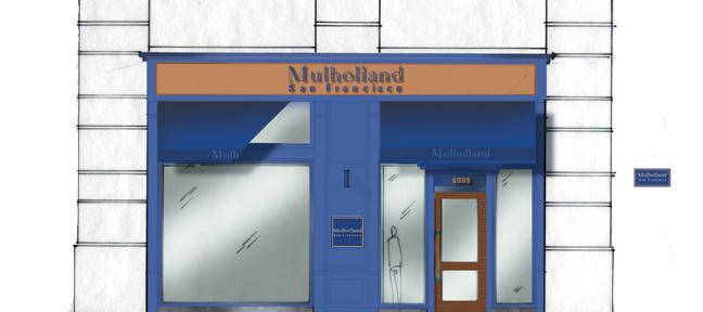 Storefront design, color palette snd execution.
