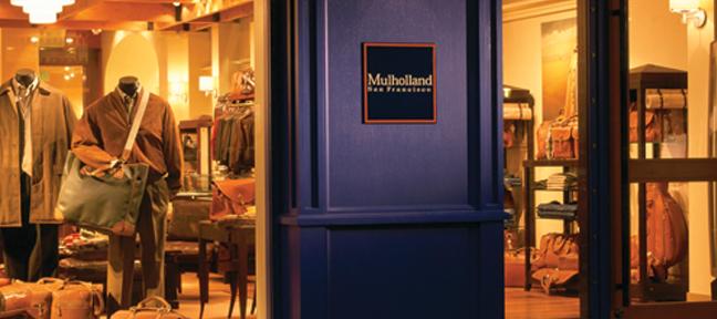 Details matter – leather door handle and leather floor.