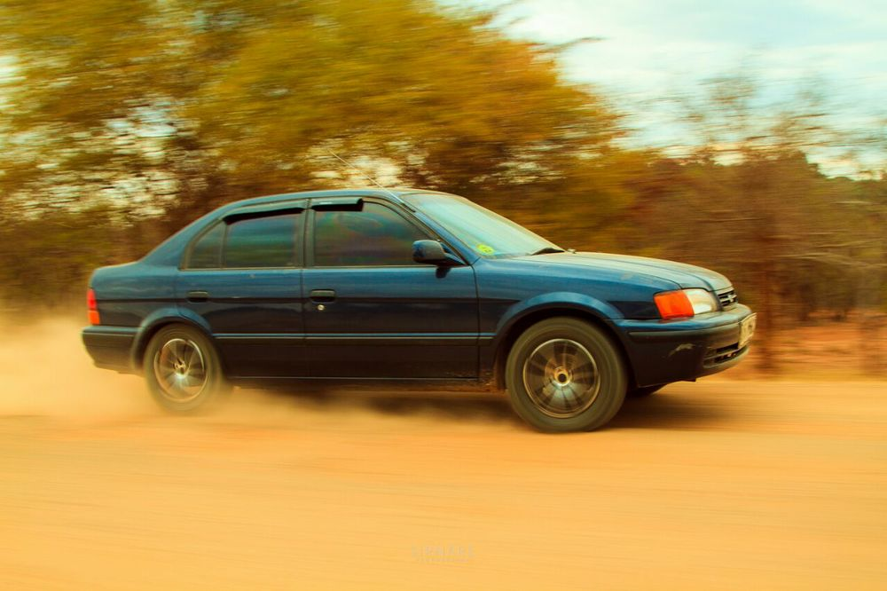 Me cruising off-road about 12kms from Masinga Dam. Photo by Sirnare