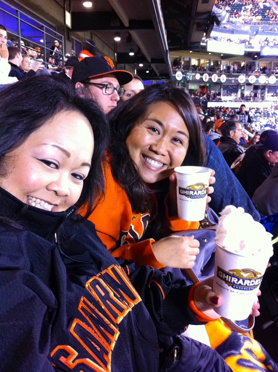 SF Giants and Ghirardelli Hot Chocolate!