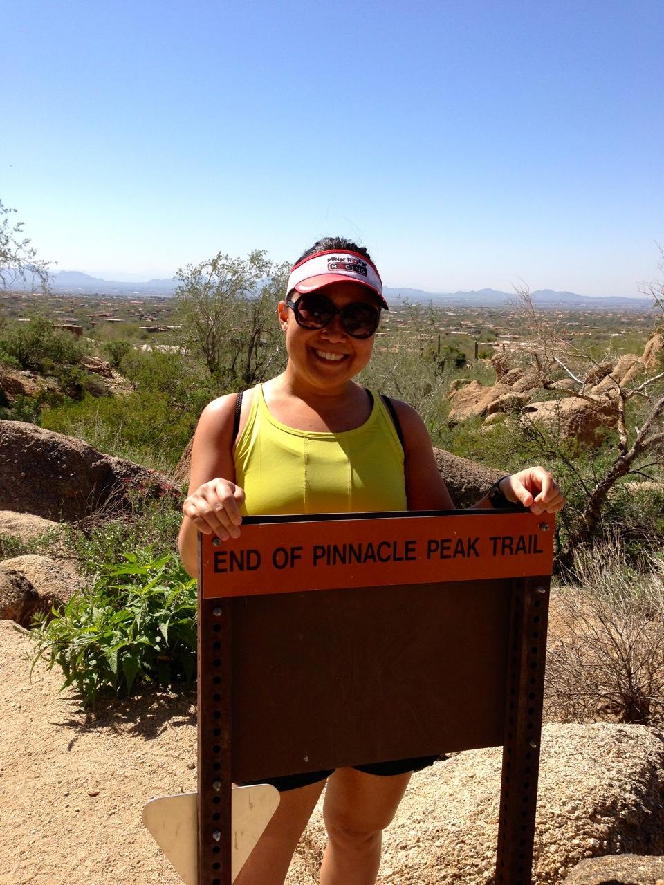 The end of Pinnacle Peak trail