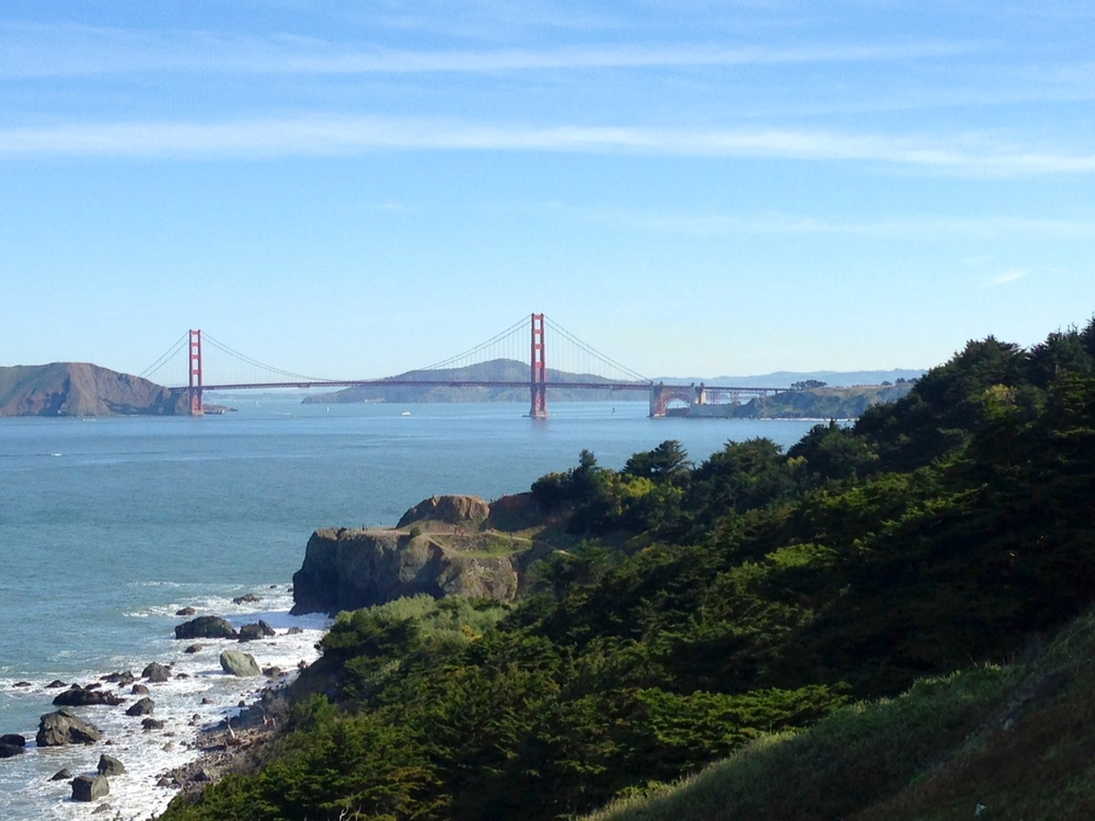 Golden Gate Bridge from Land's End Lookout - the best part of the run