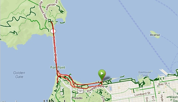 Crissy Field - Golden Gate Bridge Running Route
