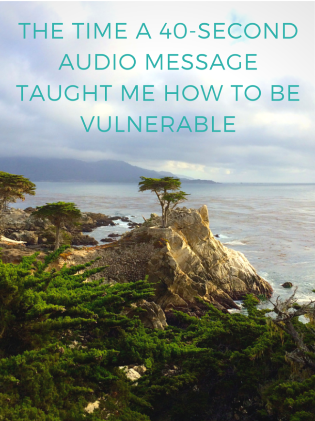 The Time A 40-second Audio Message Taught Me How To Be Vulnerable