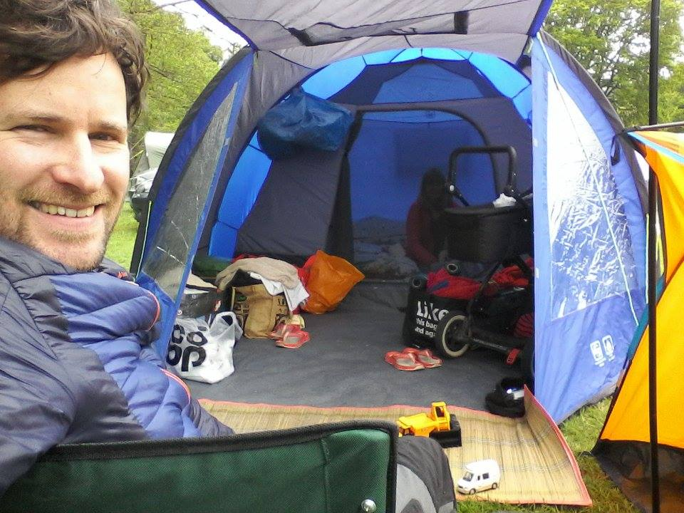 Camping with young children still needs to be practical