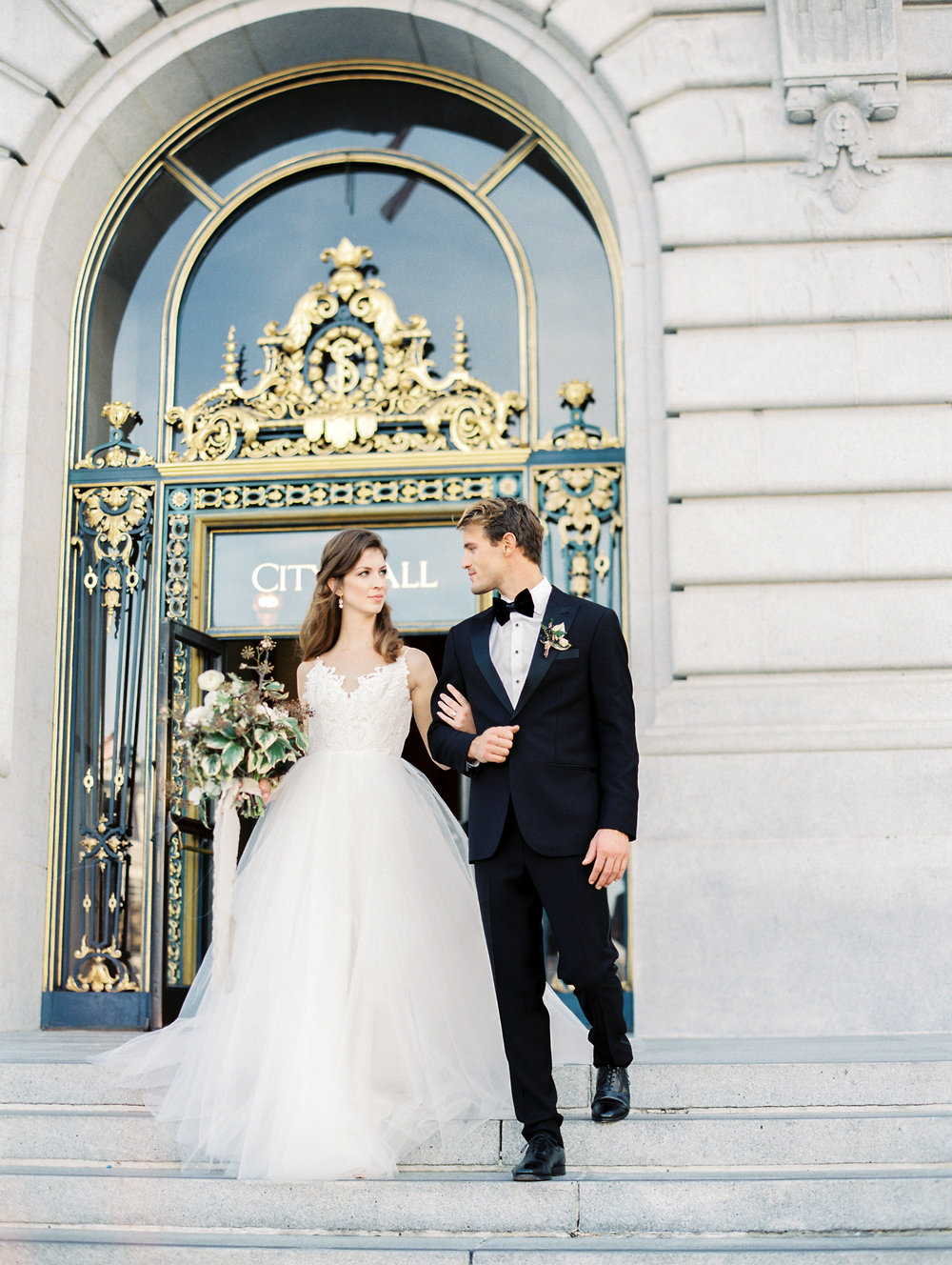 San Francisco City Hall Wedding Elopement Photographer