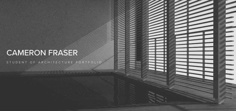 Cameron Fraser Architecture Student Field Notes