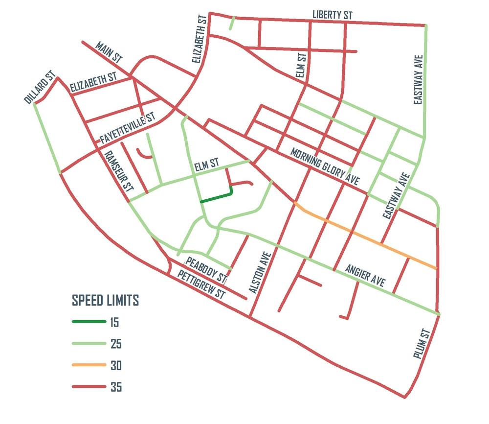 Edgemont Street Speed Limits