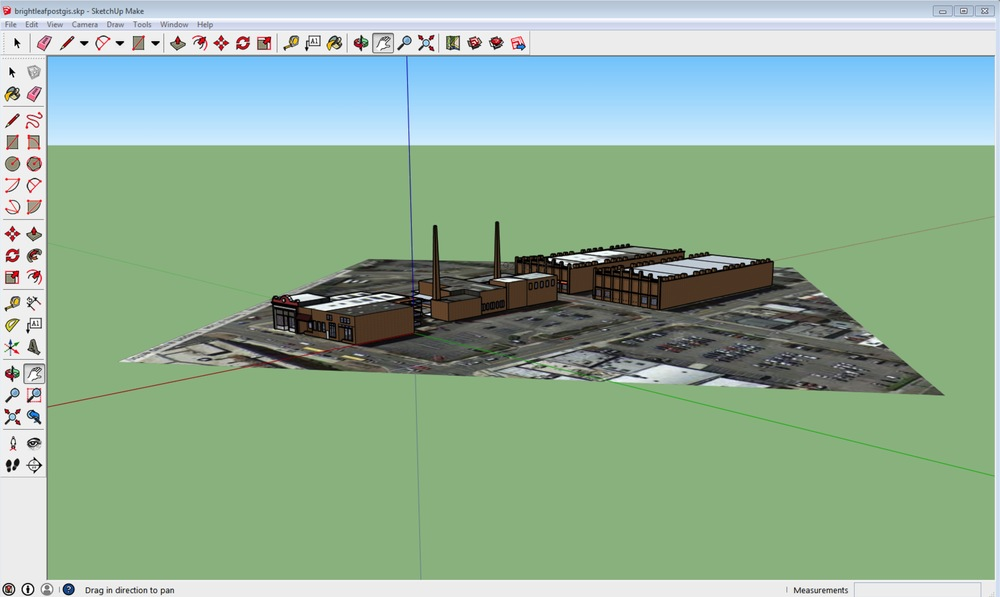 3D models created in ArcScene and edited/styled in SketchUp Make.