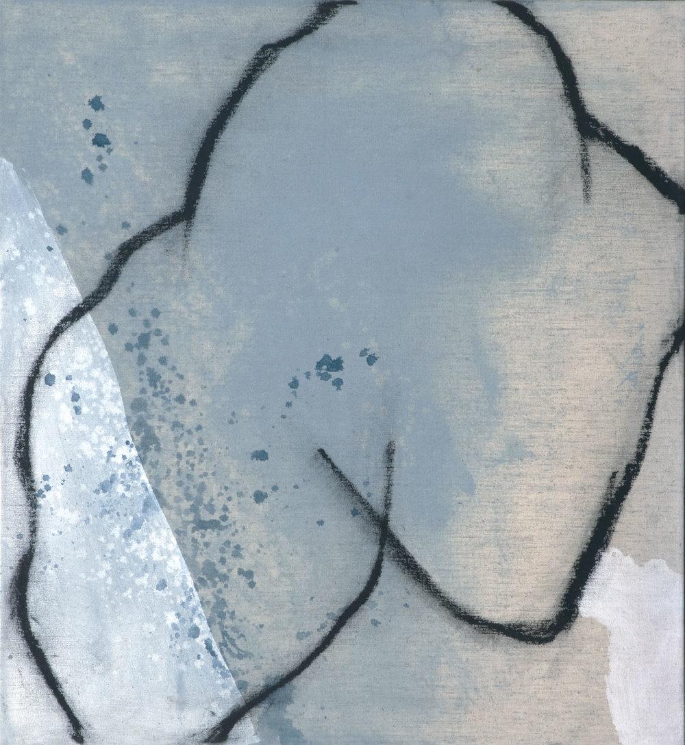 JA-823_vénus bleue no1 acrylique sur toile 61 x 56 cm