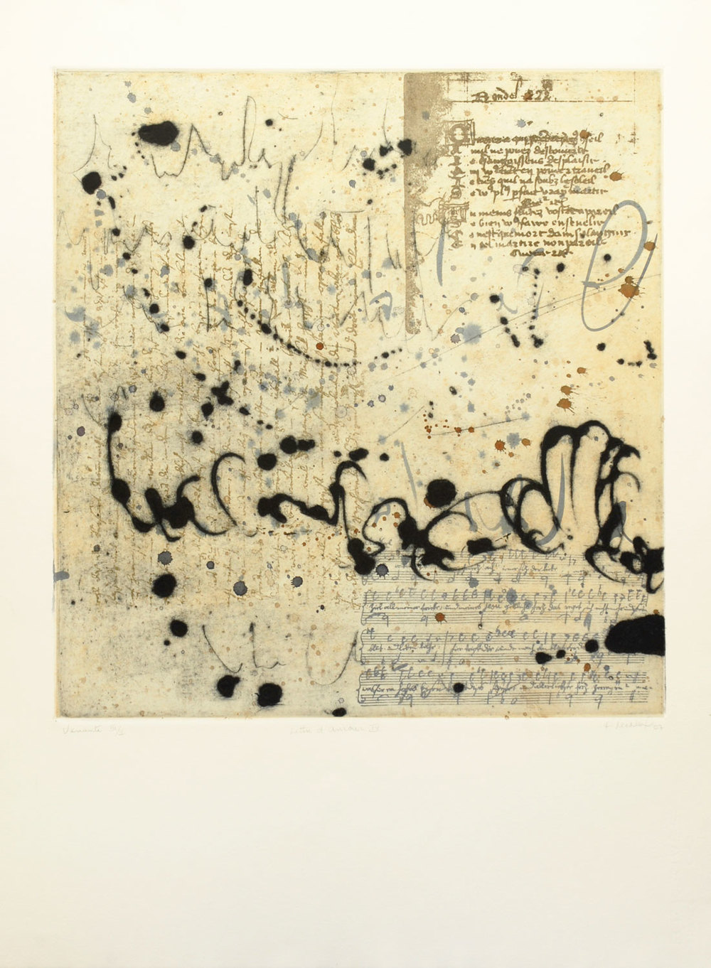 lettre d'amour IV, 76 x 56 cm
