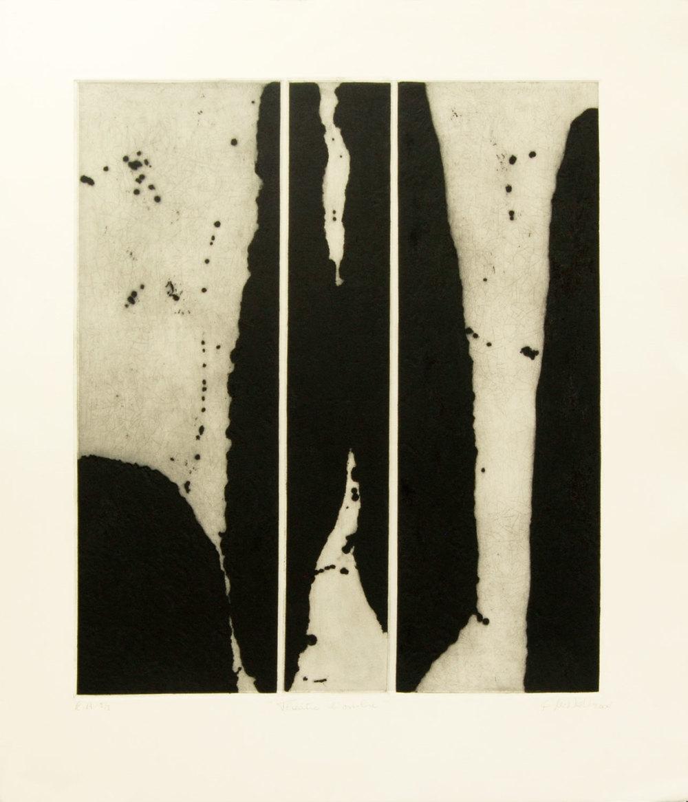 théâtre d'ombre, 76 x 57 cm